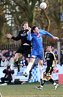 Photo: Mark Stephenson.<br /> Chasetown v Cardiff City. FA Cup Third Round. 05/01/2008.<br /> Cardiff's Glen Loovens wins the ball