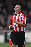 Photo: Pete Lorence.<br />Lincoln City v Rochdale United. Coca Cola League 2. 21/10/2006.<br />Jamie Forrester in action.