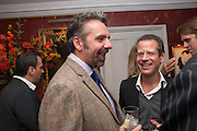 KEITH TYSON; KENNY SCHACTER, Dinner to celebrate the opening of Pace London at  members club 6 Burlington Gdns. The dinner followed the Private View of the exhibition Rothko/Sugimoto: Dark Paintings and Seascapes.