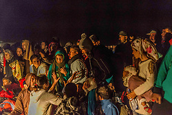 Sept. 6, 2015 - many freezing refugees with children are trying to get on the bus going to a camp on September 6, 2015. Serbian and Hungarian border. Ulrik Pedersen/NurPhoto  (Credit Image: © Ulrik Pedersen/NurPhoto via ZUMA Press)