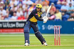 Colin Ingram of Glamorgan in action<br /> <br /> <br /> Photographer Craig Thomas/Replay Images<br /> <br /> Vitality Blast T20 - Round 4 - Glamorgan v Middlesex - Friday 26th July 2019 - Sophia Gardens - Cardiff<br /> <br /> World Copyright © Replay Images . All rights reserved. info@replayimages.co.uk - http://replayimages.co.uk