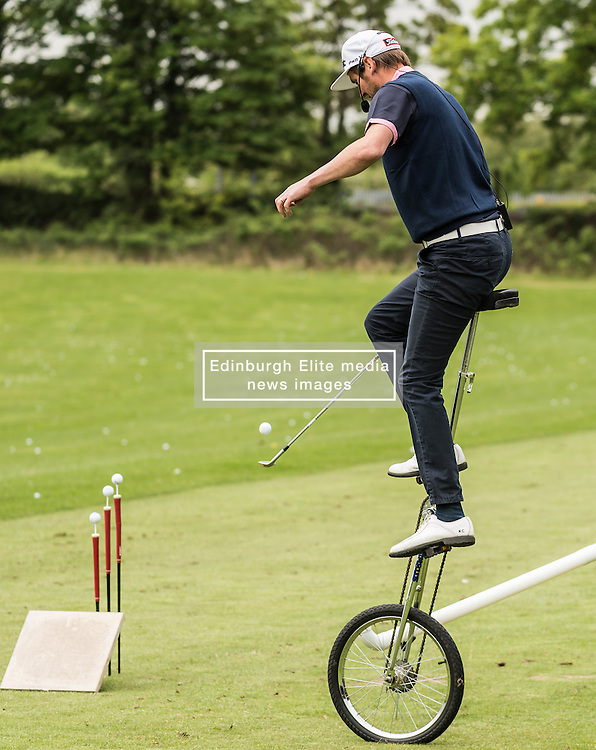 Titleist trick shot team at The ISPS HANDA Mike Tindall Celebrity Golf Classic<br /> <br /> (c) John Baguley | Edinburgh Elite media