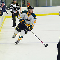 3rd year forward Colton Sparrow (22) of the Regina Cougars in action during the Men's Hockey Home Game on November 19 at Co-operators arena. Credit: Arthur Ward/Arthur Images