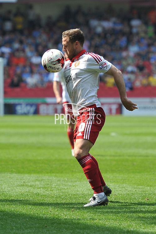 Sheffield United forward Billy Sharp (10) during the Sky Bet League 1 match between Sheffield Utd and Scunthorpe United at Bramall Lane, Sheffield, England on 8 May 2016. Photo by Ian Lyall.