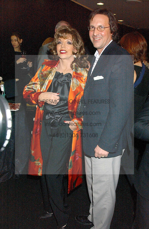 JOAN COLLINS and PERCY GIBSON at a party to celebrate The World of Alber Elbaz for Lanvin at Harvey Nichols, Knightsbridge, London on 1st February 2006.<br /><br />NON EXCLUSIVE - WORLD RIGHTS