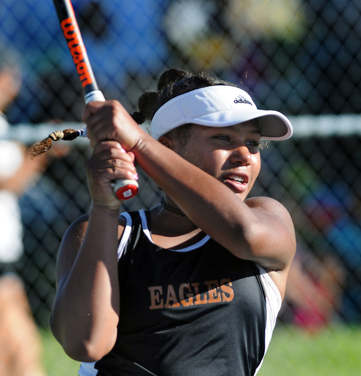 girls state tennis1/sports/jim thompson/ Girls 6A State Tennis championships.  Thursday May. 04, 2017. (Jim Thompson/Albuquerque Journal)