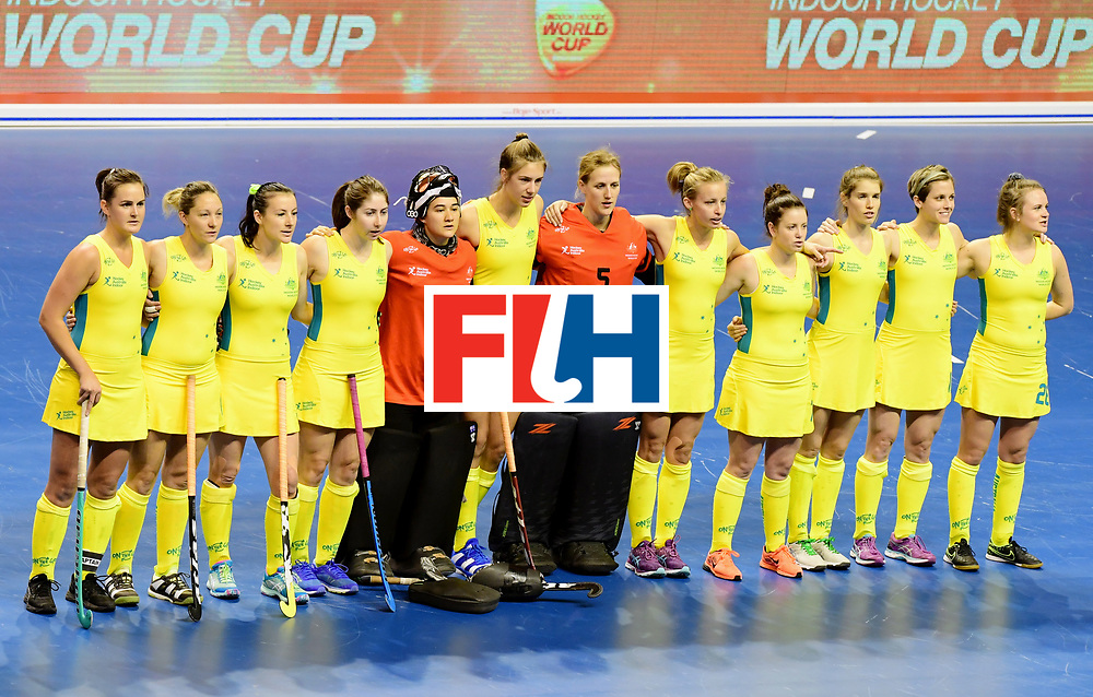 BERLIN - Indoor Hockey World Cup<br /> Women: Ukraine - Australia<br /> foto: Australia.<br /> WORLDSPORTPICS COPYRIGHT FRANK UIJLENBROEK