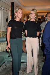Left to right, OTTILIE WINDSOR and KATE HOBHOUSE chairman of Fortnum & Mason at a the Fortnum's X Frank private view - an instore exhibition of over 60 works from Frank Cohen's collection at Fortnum & Mason, 181 Piccadilly, London on 12th September 2016.