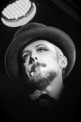 Boy George in concert at the Glee Club, Birmingham, United Kingdom<br /> Picture Date: 12 November, 2013