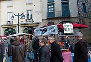 Rennes, FRANCE. General View GV. Rennes weekly regional market. Brittany,<br /> <br />  Stalls in the open and covered market  <br /> <br /> Saturday  26/04/2014 <br /> <br /> © Peter SPURRIER, <br /> <br /> NIKON CORPORATION  NIKON D700  f5  1/250sec  24mm  706K