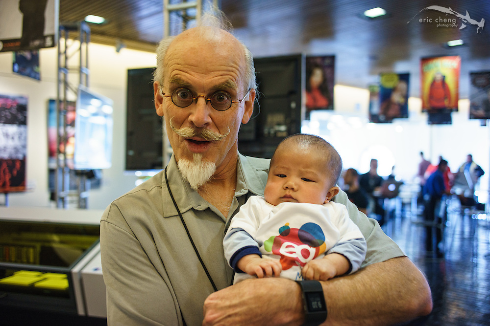 Baby Mako with Adobe's Russell Preston Brown