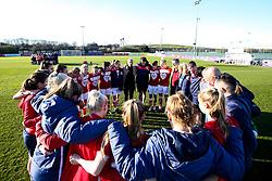Bristol City Women huddle - Mandatory by-line: Robbie Stephenson/JMP - 24/03/2019 - FOOTBALL - Stoke Gifford Stadium - Bristol, England - Bristol City Women v Everton Ladies - FA Women's Super League