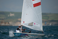 2012 Olympic Games London / Weymouth<br /> Racing day 1 Laser<br /> LaserAUTGeritzer Andreas