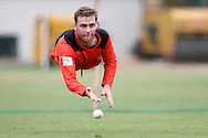 Tom Triffitt of Perth Scorchers during the Perth Scorchers Training Session held at the Sawai Mansingh Stadium in Jaipur on the 28th September 2013<br /> <br /> Photo by Shaun Roy-CLT20-SPORTZPICS <br /> <br /> Use of this image is subject to the terms and conditions as outlined by the CLT20. These terms can be found by following this link:<br /> <br /> http://sportzpics.photoshelter.com/image/I0000NmDchxxGVv4