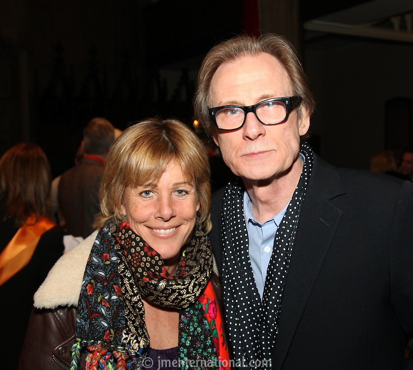 Lucy Morris and Bill Nighy