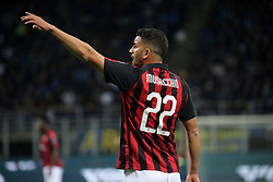 October 21, 2018 - Milan, Milan, Italy - Mateo Musacchio #22 of AC Milan during the serie A match between FC Internazionale and AC Milan at Stadio Giuseppe Meazza on October 21, 2018 in Milan, Italy. (Credit Image: © Giuseppe Cottini/NurPhoto via ZUMA Press)