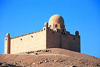 Aga Khan tomb near aswan in egypt