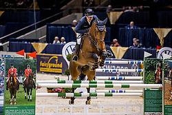 KRIEG Niklas (GER), Alexis C<br /> Preis der fair ground GmbH<br /> Int. jumping competiton against the clock (1,35-1,40m) - CSIYH1*<br /> Braunschweig - Classico 2020<br /> 06.03.20<br /> © www.sportfotos-lafrentz.de/Stefan Lafrentz