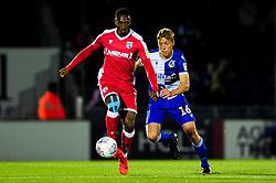 Brandon Hanlan of Gillingham is marked by Tom Davies of Bristol Rovers - Mandatory by-line: Ryan Hiscott/JMP - 17/09/2019 - FOOTBALL - Memorial Stadium - Bristol, England - Bristol Rovers v Gillingham - Sky Bet League One