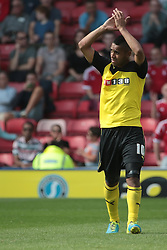 Watford's Lewis McGugan  - Photo mandatory by-line: Nigel Pitts-Drake/JMP - Tel: Mobile: 07966 386802 25/08/2013 - SPORT - FOOTBALL -Vicarage Road Stadium - Watford -  Watford v Nottingham Forest - Sky Bet Championship