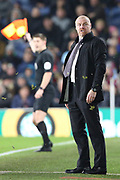 Burnley Manager Sean Dyche during the Premier League match between Burnley and Manchester United at Turf Moor, Burnley, England on 28 December 2019.