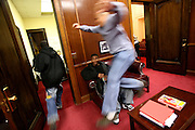 Newark Mayor Cory Booker playfully chases Sean Bennett Laboo, 16, around his office. Booker chose to mentor the boys who had gotten into trouble.