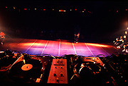 A set of turntables at UK B-Boy Championships, London, 2004.