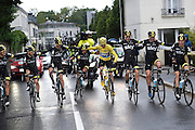 FROOME Christopher of Team Sky with his teammates and almost the crash of PORTE Richie of Team Sky during the stage 21 of the 102nd edition of the Tour de France 2015 with start in Sevres - Grznd Paris Seine Ouest and finish in Paris - Champs-Elysees, France (109,5 kms)