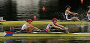 2006 FISA World Cup, Lucerne, SWITZERLAND, 07.07.2006. Women's Pair, USA, bow Megan COOKE and Anna MICKELSON.  Photo  Peter Spurrier/Intersport Images email images@intersport-images.com.[Friday Morning]...[Mandatory Credit Peter Spurrier/Intersport Images... Rowing Course, Lake Rottsee, Lucerne, SWITZERLAND.