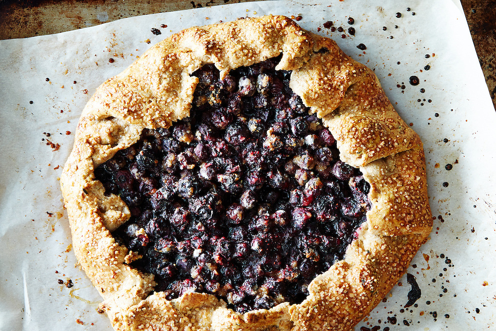 Blueberry Galette with Rosemary Crust