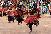 Mali, Pays Dogon, Region de Sangha, Village de Banani, danse masquee// Mali, Dogon Country, Sangha area, Banani village, mask dance