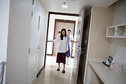 Apichit Rungputtanachaikul, a 34 year old Thai patient, after the operation, walking for the first time as a Woman at Kamol Hospital. <br />
