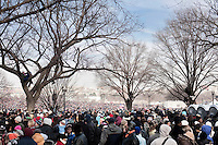 20 January, 2009. Washington, DC. About 2 millions of people gathered at the National Mall in Washington D.C. for the inauguration of the 44th President of the United States, Barack Obama. Obama, the nation's first black chief executive, told the nation in his address that shared sacrifice would be necessary to return to peace and posperity.<br /> ©2009 Gianni Cipriano<br /> cell. +1 646 465 2168 (USA)<br /> cell. +1 328 567 7923 (Italy)<br /> gianni@giannicipriano.com<br /> www.giannicipriano.com D.C.<br /> About 2 millions of people gathered at the National Mall in Washington D.C. for the inauguration of the 44th President of the United States, Barack Obama. Obama, the nation's first black chief executive, told the nation in his address that shared sacrifice would be necessary to return to peace and posperity.<br /> ©2009 Gianni Cipriano<br /> cell. +1 646 465 2168 (USA)<br /> cell. +1 328 567 7923 (Italy)<br /> gianni@giannicipriano.com<br /> www.giannicipriano.com