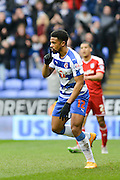 Reading FC striker Gareth McCleary celebrates his goal during the Sky Bet Championship match between Reading and Cardiff City at the Madejski Stadium, Reading, England on 19 March 2016. Photo by Mark Davies.