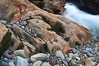Ohanapecosh River rapids just outside Mount Rainier National Park in the Gifford Pinchot NF, WA, USA