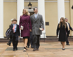 January 20, 2017 - Washington, DISTRICT OF COLUMBIA, United States - Donald Trump Jr, with his wife Vanessa and children depart St. John's Church in Washington, DC,  after a service for U.S. President-elect Trump, January 20, 2017. Credit: Chris Kleponis / EPA (Credit Image: © Stf/CNP via ZUMA Wire)