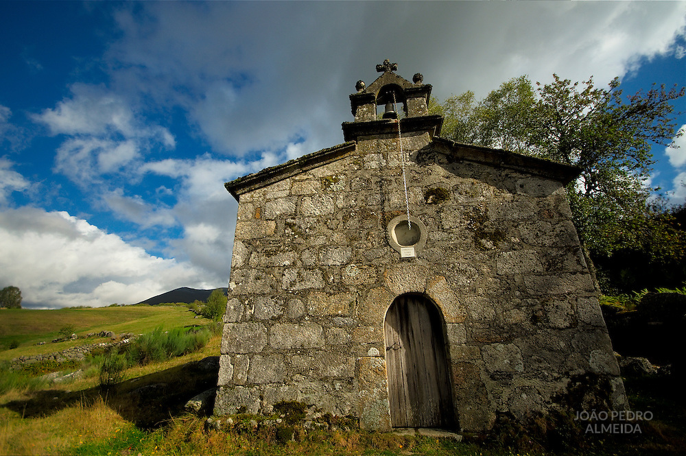 Stone chapel at Spain's Ancares Mountains