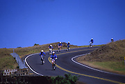 Bicycling down Haleakala, Maui, Hawaii<br />