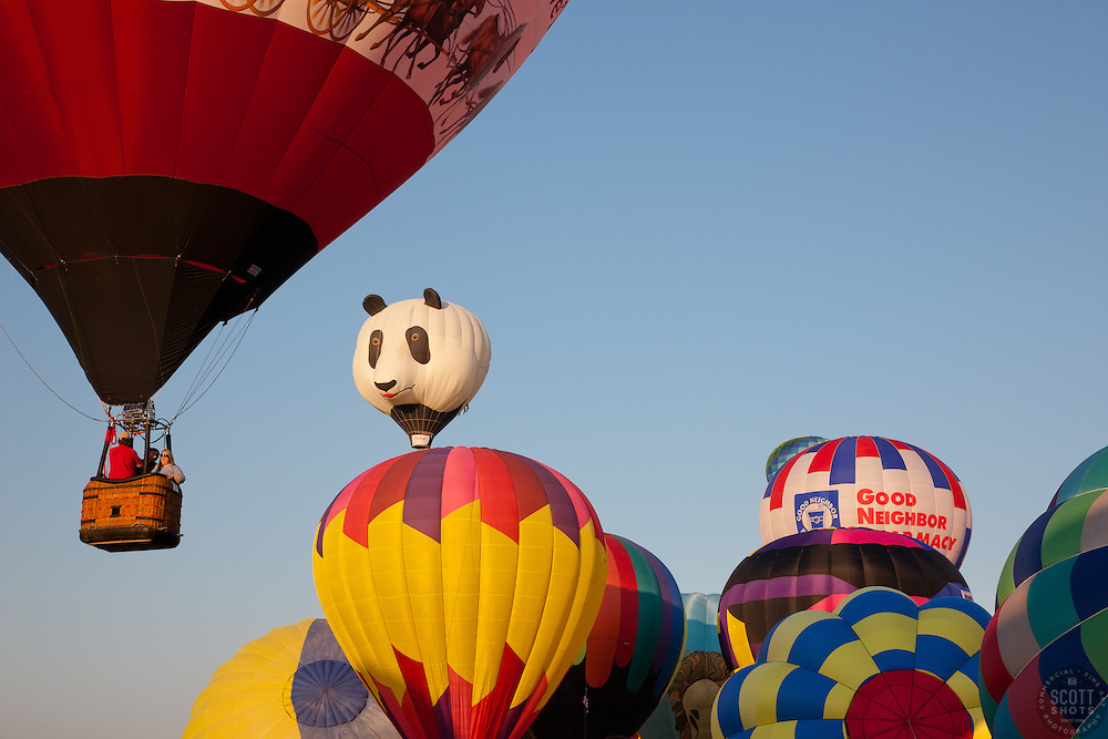 """Hot Air Balloons 2"" - These hot air balloons were photographed during the 2011 Great Reno Balloon Race."