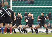 2004_'The Gartmore Challenge' - Barbarians_vs_New-Zealand..Traditional 'Haka' before the game..04.12.2004 Photo  Peter Spurrier. .email images@intersport-images.com...