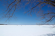 Snow and ice on the Saint Lawrence River,<br />