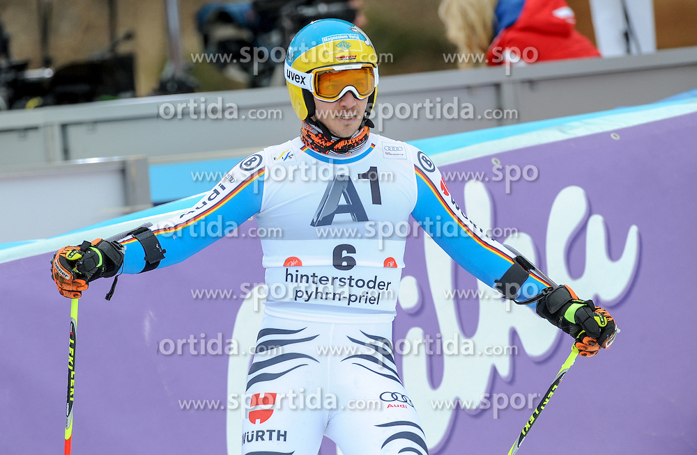 28.02.2016, Hannes Trinkl Rennstrecke, Hinterstoder, AUT, FIS Weltcup Ski Alpin, Hinterstoder, Riesenslalom, Herren, 2. Lauf, im Bild Felix Neureuther (GER) // Felix Neureuther of Germany reacts after his 2nd run of men's Giant Slalom of Hinterstoder FIS Ski Alpine World Cup at the Hannes Trinkl Rennstrecke in Hinterstoder, Austria on 2016/02/28. EXPA Pictures © 2016, PhotoCredit: EXPA/ Erich Spiess