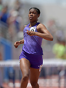 Asjah Atkinson of St. Anthony wins the girls 100m hurdles in 14.08 during the 2019 CIF Southern Section Masters Meet in Torrance, Calif., Saturday, May 18, 2019.