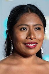 Yalitza Aparicio attending 72nd British Academy Film Awards, Arrivals, Royal Albert Hall, London. 10th February 2019