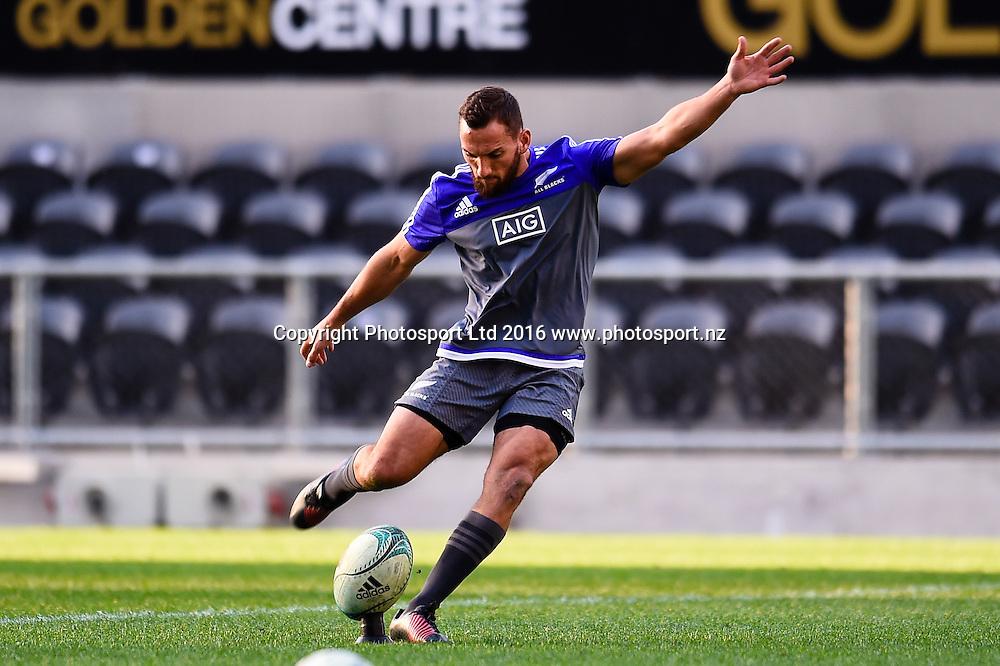 Aaron Cruden during the All Blacks Captains run at Forsyth Barr Stadium, Dunedin, New Zealand. 24th June 2016. Copyright Photo: John Davidson / www.photosport.nz