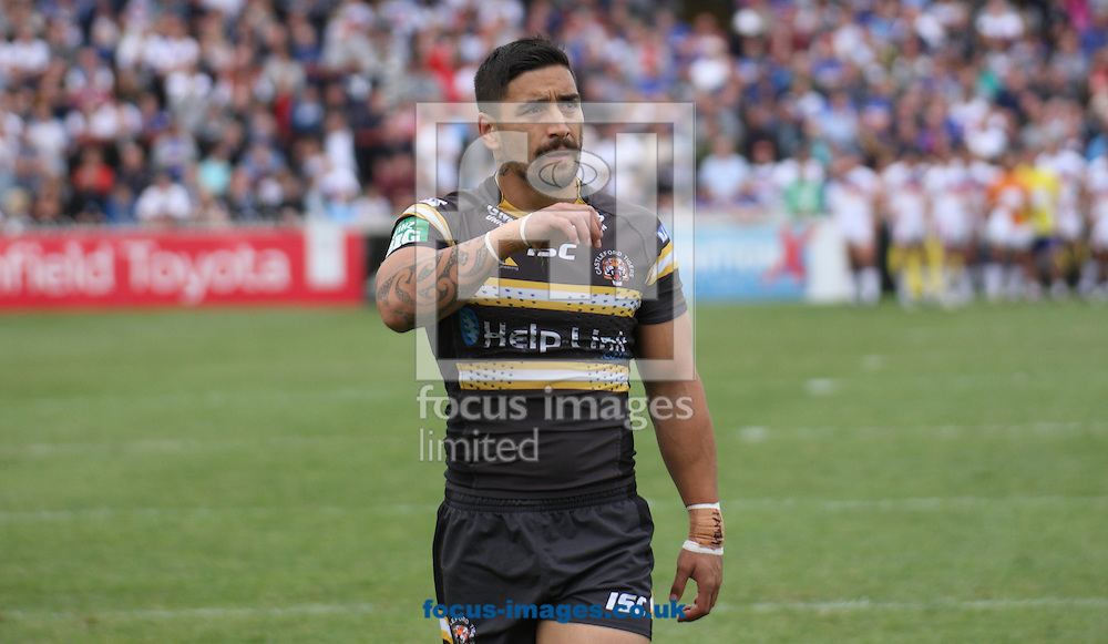 Picture by Stephen Gaunt/Focus Images Ltd +447904 833202<br /> 08/09/2013<br /> Rangi Chase of Castleford Tigers during the Super League match at Belle Vue, Wakefield.