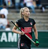 AMSTELVEEN - Jacky Schoenaker (A'dam)  tijdens  Amsterdam-Huizen (4-1), competitie Hoofdklasse hockey dames   (2017-2018) .COPYRIGHT KOEN SUYK