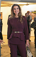 Queen Rania Visits Paris, France