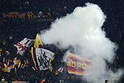 Roma supporters during the UEFA Europa League, Group J football match between AS Roma and Wolfsberg AC on December 12, 2019 at Stadio Olimpico in Rome, Italy - Photo Federico Proietti / ProSportsImages / DPPI