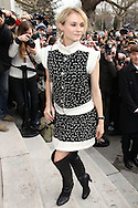 PARIS, FRANCE - JANUARY 24:  Diane Kruger arrives at the Chanel Haute-Couture Spring / Summer 2012 Show as part of Paris Fashion Week at the Grand Palais on January 24, 2012 in Paris, France.  (Photo by Tony Barson/Getty Images)